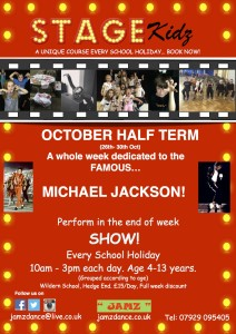 STAGEkidz Oct Half Term
